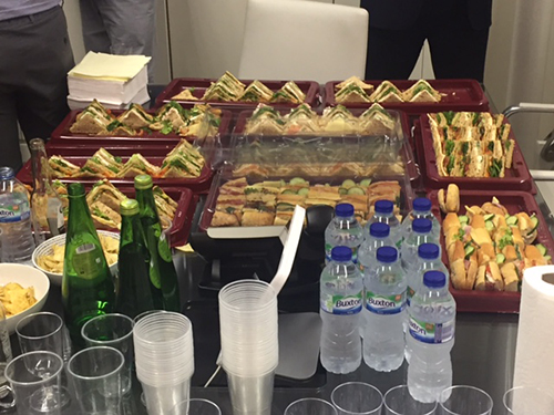 Refreshments for guest and members